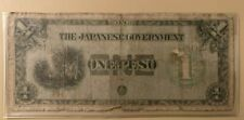1942 series Japanese Government Philippines 1 one peso note
