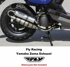 Fly Racing Yamaha Zuma Scooter Exhaust Hi Performance Bi Turbo Custom