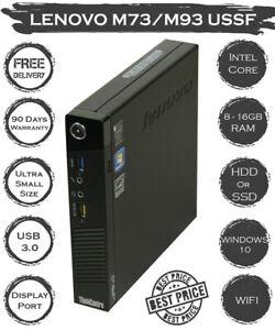 Lenovo Intel i7 i5 i3 4th gen 2TB SSD 16GB RAM M73 M93 Ultra Small PC WIN 10 PRO