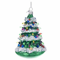 Kurt Adler Green Retro Vntg Style Christmas Tree Lights Glass Ornament Decor