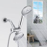5-Setting 3 way Chrome Rainfall Shower Faucet Head & Handheld Combo High Pressur