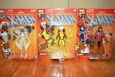 Marvel Legends Retro Card Storm, Rogue, Gambit Lot