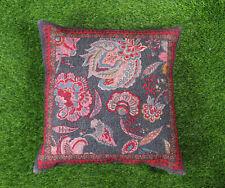 Digital Print Cushion Cover Handmade Home Decor Pillow Cover Red Floral Throw