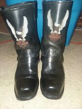 Harley-Davidson Men's Motor Cycles Riding Boots Black Leather Size 10 1/2 #91020
