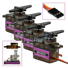 4 X MG90S RC Metal Gear Servo High Speed Micro Motor für RC Robot Auto Flugzeug