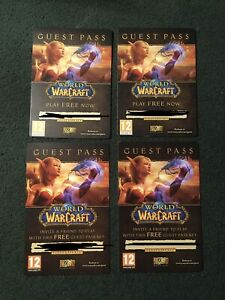 4 x World of Warcraft Guest Passes