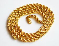 Vintage 14K Yellow Gold Twisted Rope Elegant Necklace Made Italy L- 26'' 14.2 g