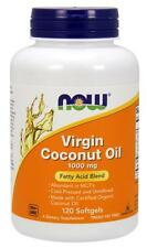 Virgin Coconut Oil 1000 mg 120 Softgels Now Foods, Cold-Pressed, Source of MCTs