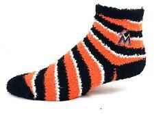 Miami Marlins Fuzzy Sleep MLB Baseball Non Skid Socks One Size Fits Most