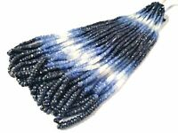 1 Strand Natural Shaded Blue Sapphire Rondelle Faceted 3-4mm Gemstone Beads 16""