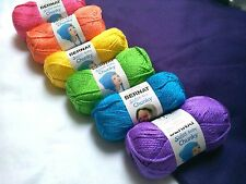 NEW Bernat SOFTEE Baby CHUNKY Yarn Afghan 6 Pack(6) 5oz Skeins BRITE *SEE NOTE*