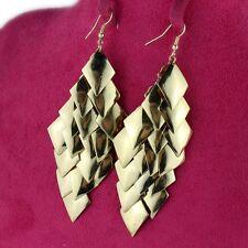coloured drop chandelier dangle Earrings Elegant 10cm boho style gold