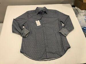 NWT $198.00 Robert Graham Mens Walulla LS Buttondown Blue Triangle Sz XL