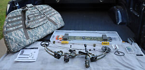 PSE X Force Supershort NI Right-Hand Compound Bow - EXC w/Case, Arrows, Extras!
