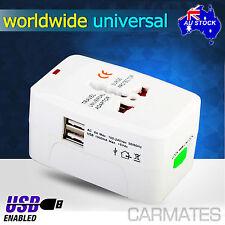 USB All in One AU UK USA EU Universal World Travel Power Charger AC Adaptor Plug