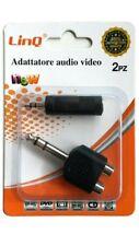 Set 2 Adattatori Connettore Audio Stereo 6,3 Mm Rca Jack 3.5 Mm Linq Av-25