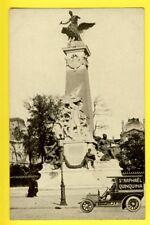 cpa Anvers 75 - PARIS MONUMENT Léon GAMBETTA Automobile Pub St Raphael Quinquina
