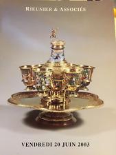 RARE CATALOGUE VENTE 2003 REUNIER DROUOT Dessins bijoux montres Augsbourg MOA