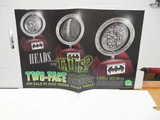 Two-Face Spinning Two Headed Coin Statue Batman  Promo Poster