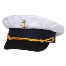 Marineschirmmütze Kapitänsmütze Hut Kappe Schiffahrt gold bestickt Fasching