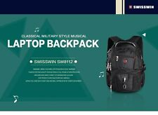 "Swisswin Backpack Sw8112 Black 16"" Laptop"