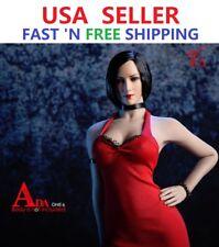 1/6 Resident Evil Ada Wong Head Sculpt SHORT BLACK HAIR For PHICEN PALE