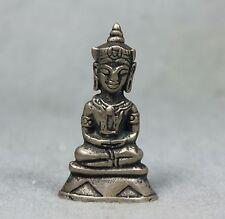 Buddha Khmer Statue Angkor Cambodia Antique mix silver Thai Buddhist Amulet