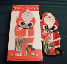 Fitz and Floyd Snack Therapy Santa Claus Snack Tray