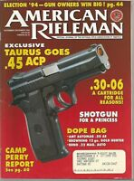American Rifleman Magazine November/December 1994 Exclusive Taurus Goes .45 ACP