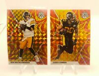 2020 Panini Mosaic Ben Roethlisberger Gold Reactive Mosaic Prizm - Steelers Lot