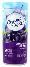 12 12-Quart Canisters Crystal Light Concord Grape Drink Mix