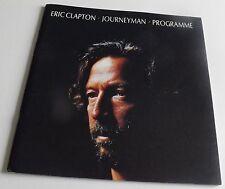 ERIC CLAPTON JOURNEYMAN CONCERT TOUR PROGRAMME