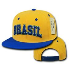Brazil Brasil Soccer Flat Bill Snapback Snap World Cup Baseball Ball Hat Cap