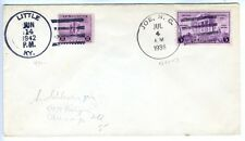 1942 Little KY, 1936 Joe NC Post Office's Special Cancels Cover