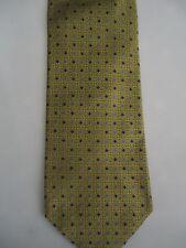 "Tie Rack Gold Blue Small Spots & Checks Designs Silk 58"""