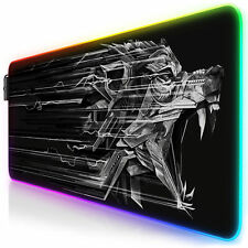Titanwolf Epsilon RGB Gaming Mauspad 800 x 300 x 4mm XL-Format LED Multi Color