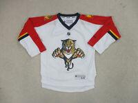 Reebok Florida Panthers Hockey Jersey Youth Medium White Red NHL Hockey A63*