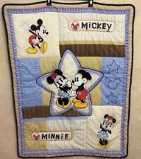 Disney Mickey & Minnie Mouse Crib Comforter- Quilted - Crown Craft