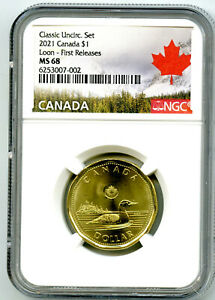 2021 CANADA $1 NGC MS68 FIRST RELEASES LOON LOONIE SUPER HIGH GRADE