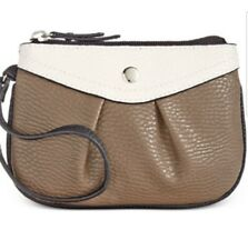 NEW Style Co Hannah Wristlet Luggage Brown White Handbag Purse Clutch, One Size
