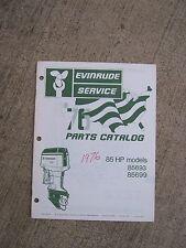 1976 Evinrude Outboard Parts Catalog 85 HP Boat L
