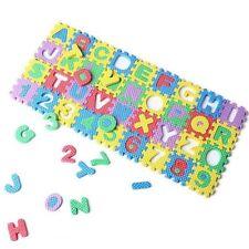 36Pcs Mini Puzzle Kid Educational Toy Alphabet A-Z Letters Numeral Foam Mat AD
