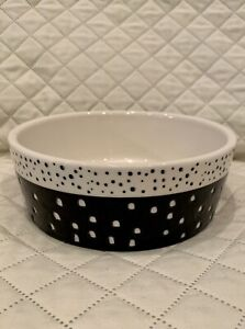 Boots & Barkley Heavy Stoneware Pet Bowl, Large 4 Cup Doggie Drink Bowl New