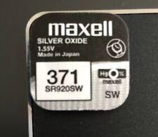 Watch Cell Battery Maxell 371 SR920SW For Seiko Pulsar Citizen Lorus Casio Boss