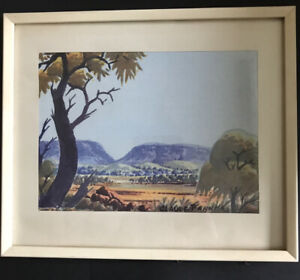 CLAUDE PANNKA HERMANNSBURG SCHOOL AUSTRALIAN ART LANDSCAPE PAINTING