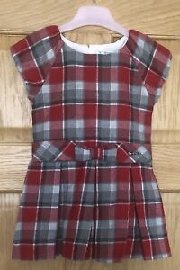 GIRLS MAYORAL SPANISH TARTAN CHECK DRESS IN RED AGE 2 YEARS - RRP £45 -