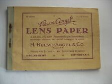 Vintage Reeve Angel lens Paper Glasses Optical Instruments Booklet 45 sheets