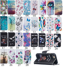 Printed Flip Carf Wallet Leather Case Cover Pouch For iphone 7/7 Plus/5 5S/6 6+