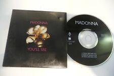 MADONNA CD SINGLE CARDSLEEVE YOU'LL SEE.