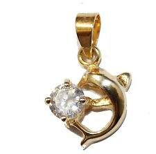 Dolphin Pendant 18k Gold Plated Necklace with 18 inch Chain - Delfin Pendant